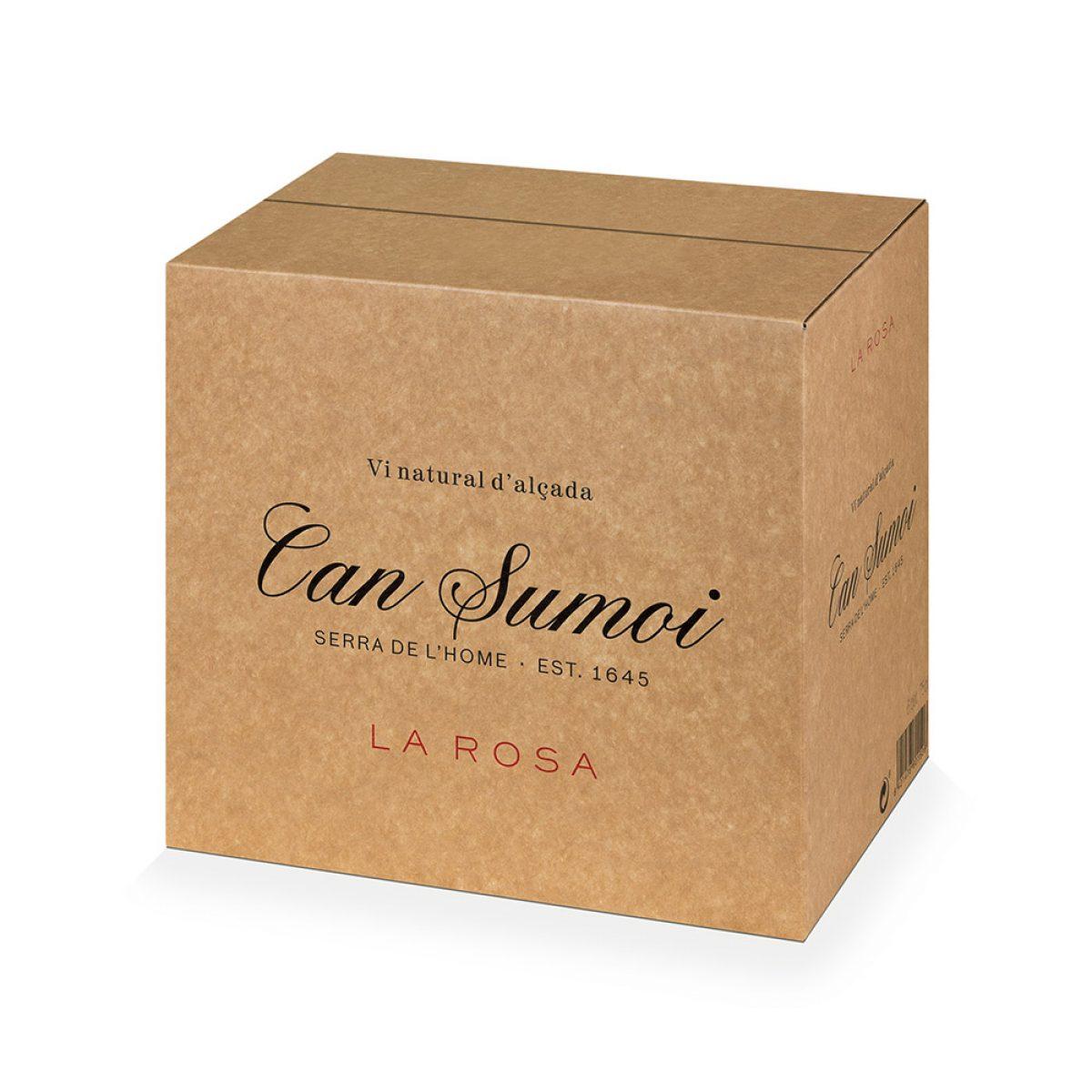 Caja de cartón Kraft para embalaje de vino