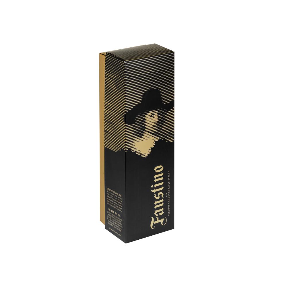 Caja tapa y fondo como estuche de lujo para 1 botella