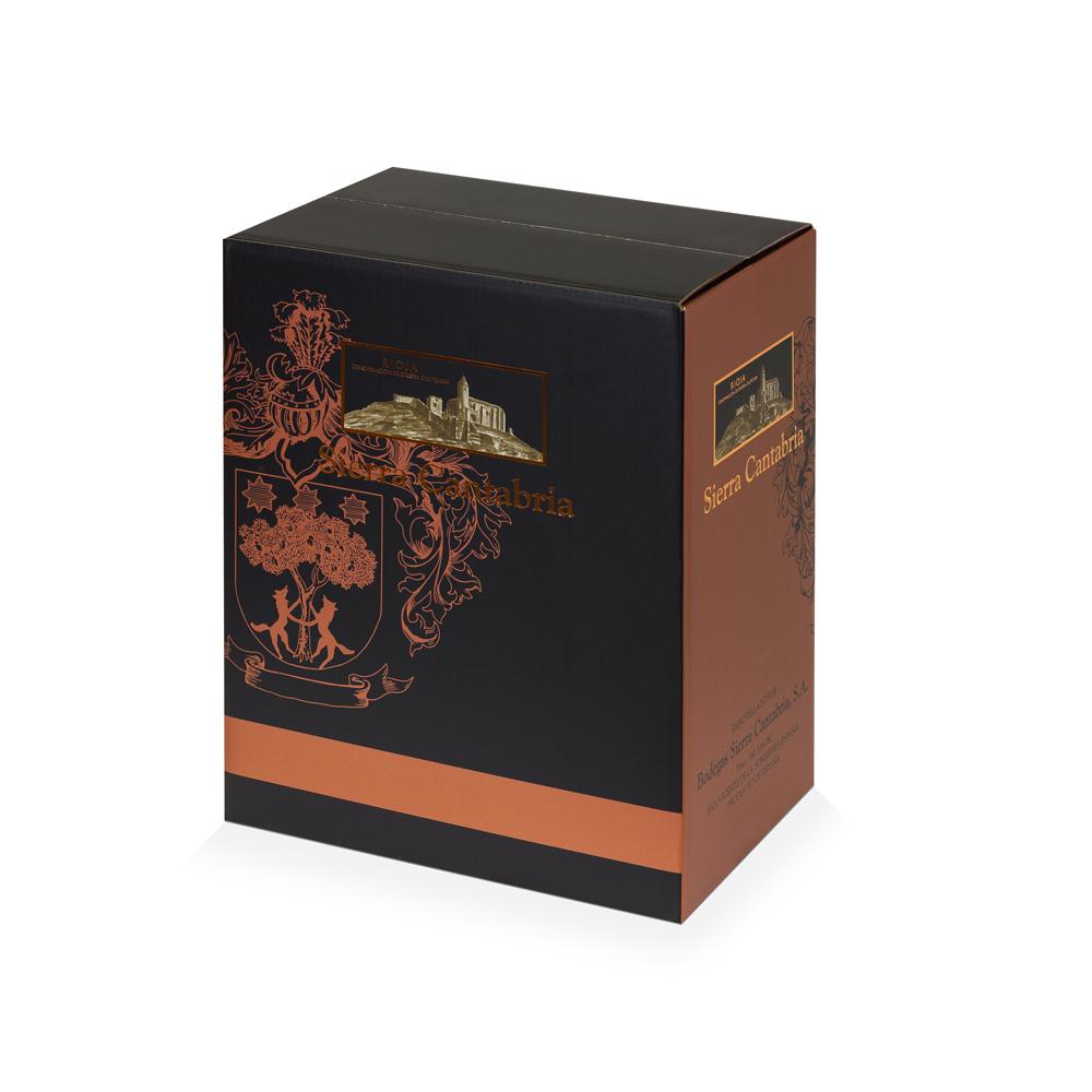 Caja de cartón embalaje y transporte de vino