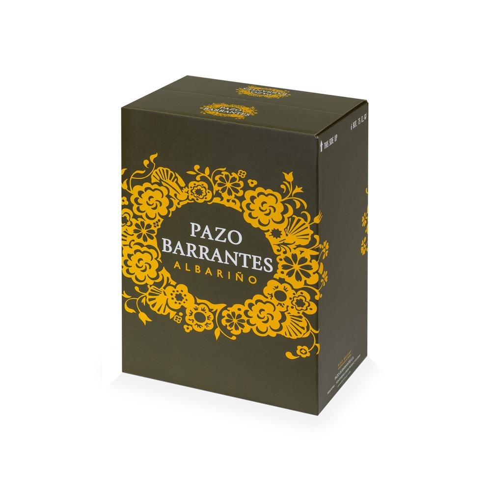 Caja de cartón para embalaje de vino con rejilla