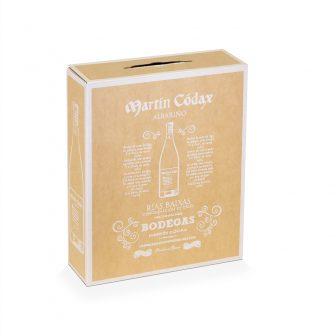 Caja de cartón kraft 3 botellas de vino