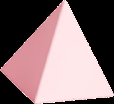 Pirámide en 3D difuminada
