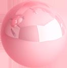 Bola brillante en 3D