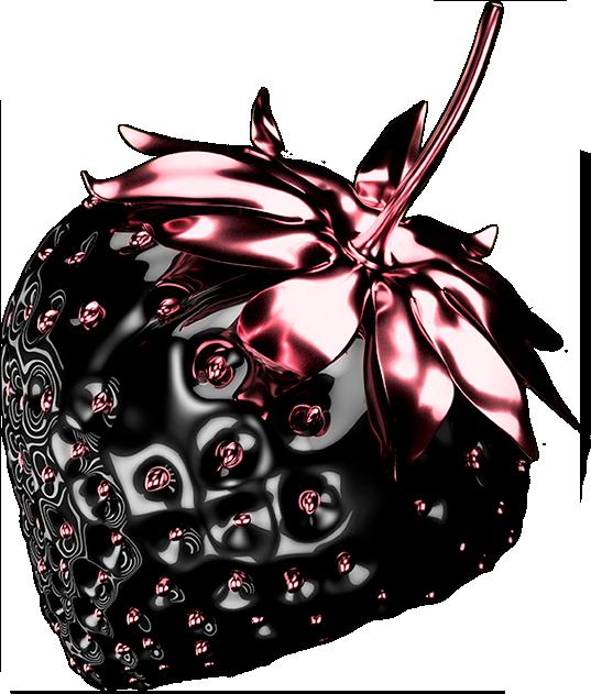 Joya fresa negra y rosa