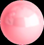bola rosa en movimiento
