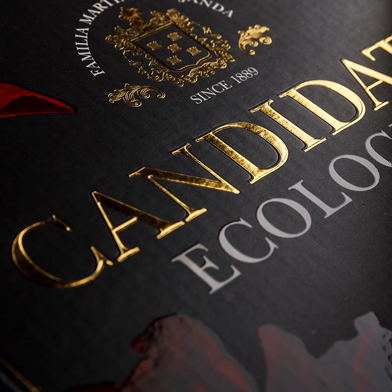 Emballage BIB de 3 litres Candidato Vin écologique