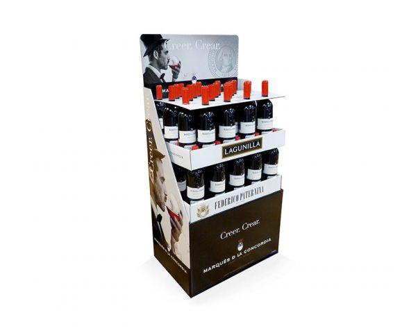 Box pallet for Lagunilla wine bottles