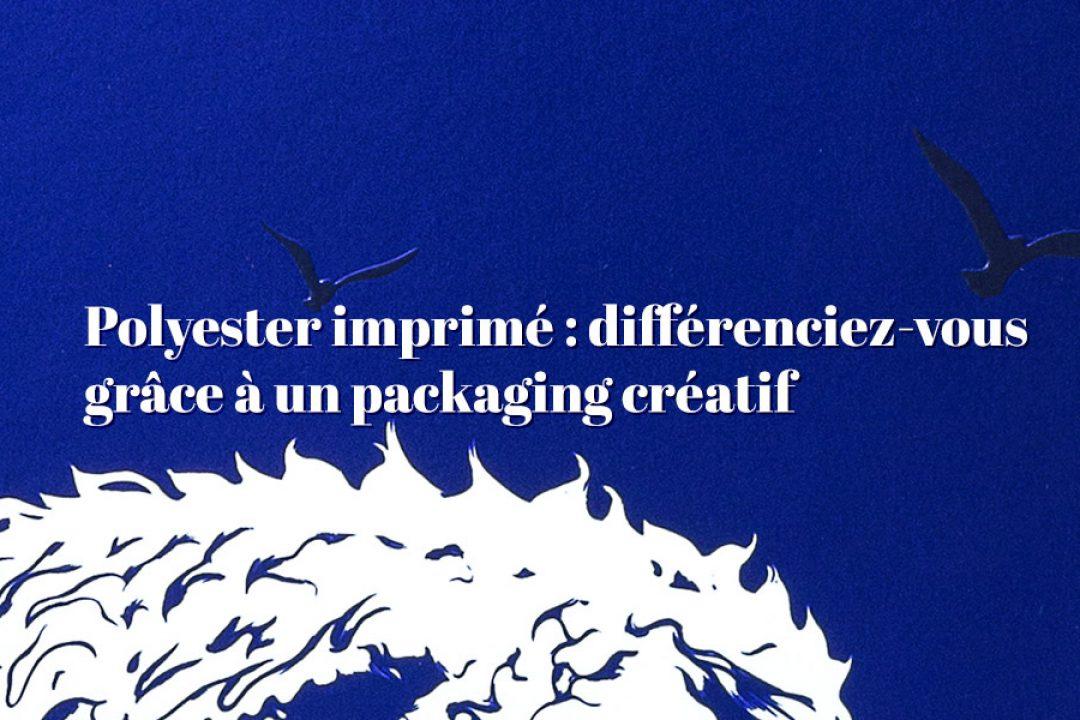 Polyester imprimé : Or, argent et packaging métallisé